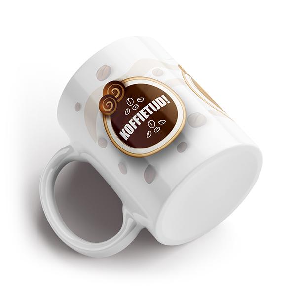 Koffietijd mok liggend