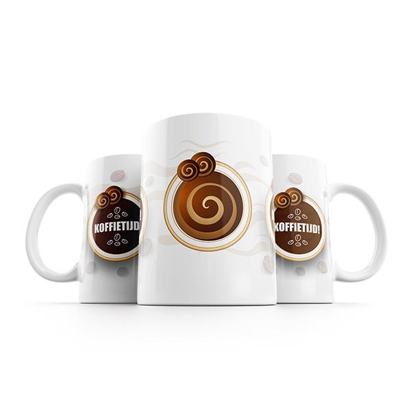 Koffietijd mok naast elkaar
