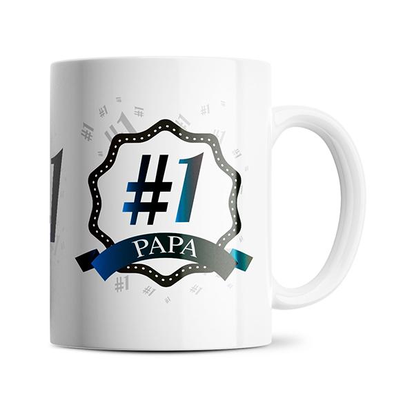 Nummer 1 Papa mok naast elkaar