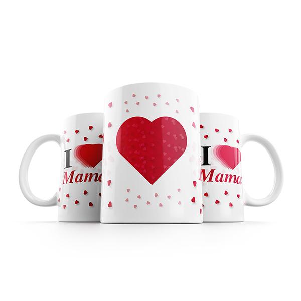 i love mama mok naast elkaar