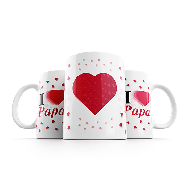 i love papa mok naast elkaar