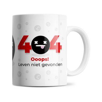 404 mok Leven niet gevonden mok